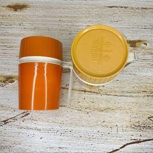 Set of 2 Vintage Thermos King Seeley Orange Yellow